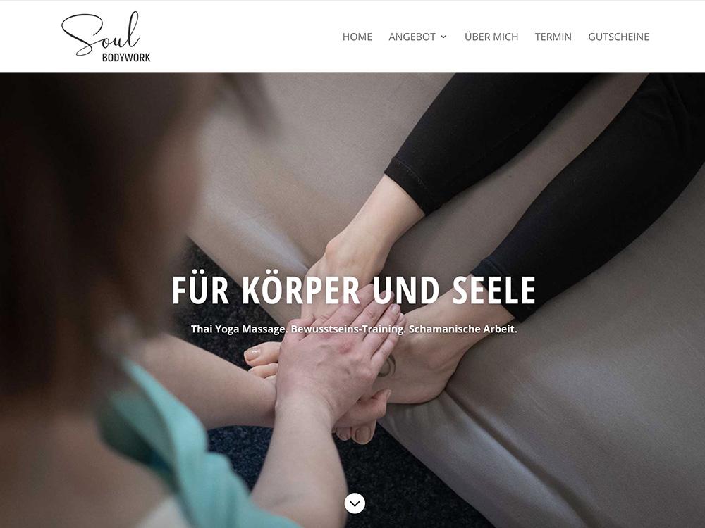 Webdesign und Text für Soul Bodywork